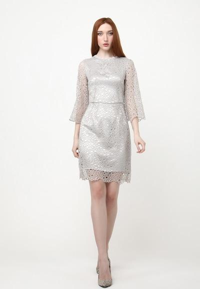 Madam-T Sommerkleid 'SONATERA' in grau / silber, Modelansicht