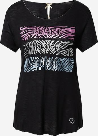 Key Largo Shirt 'PHILOSOPHY' in Black