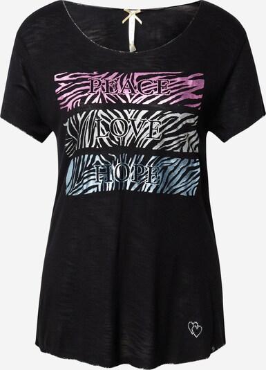 Key Largo Shirt 'PHILOSOPHY' in blau / pink / schwarz / weiß, Produktansicht
