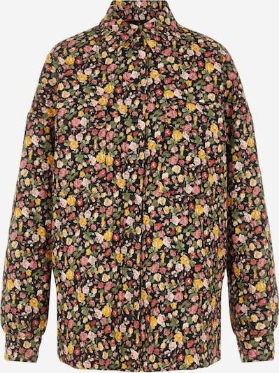 Y.A.S Tussenjas in de kleur Geel / Pink / Zwart, Productweergave