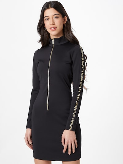 MICHAEL Michael Kors Kleid in gold / schwarz, Modelansicht