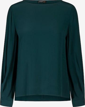APART Bluse aus leicht körnigem Krepp in Grün