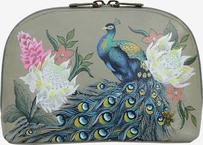 ANUSCHKA Kosmetiktasche 'Regal Peacock' aus handbemaltem Leder in mischfarben, Produktansicht