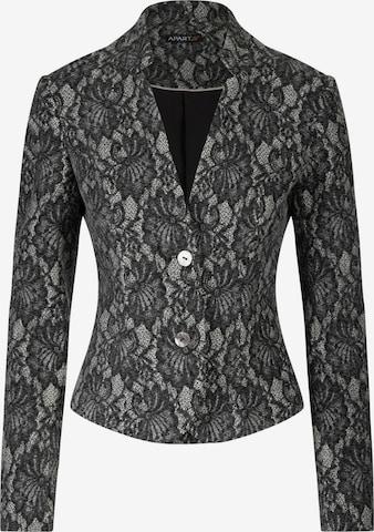 APART Blazer aus elastischer Woll Wirkware mit Spitze in Grau
