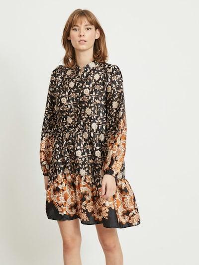 OBJECT Kleid in orange / schwarz / weiß, Modelansicht