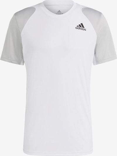 ADIDAS PERFORMANCE Funktionsshirt 'Club Tennis' in grau / schwarz / weiß, Produktansicht