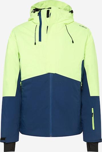 CMP Sportjas in de kleur Navy / Neongeel / Zwart, Productweergave