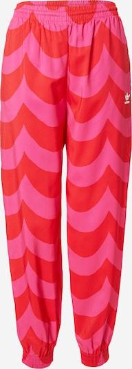 Kelnės iš ADIDAS ORIGINALS, spalva – rožinė / raudona, Prekių apžvalga