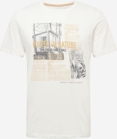 TOM TAILOR Shirt in hellbraun / grau / weiß, Produktansicht