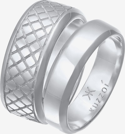 KUZZOI Ring Bandring in silber, Produktansicht