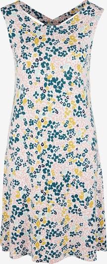 s.Oliver Kleid in beige / gelb / dunkelgrün / pink, Produktansicht