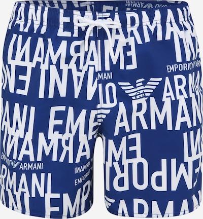 Emporio Armani Plavecké šortky - modrá / bílá, Produkt