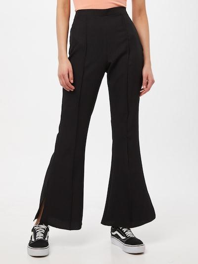 Missguided Hose 'SPLIT' in schwarz, Modelansicht