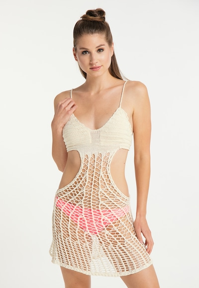 MYMO Kleid in wollweiß, Modelansicht