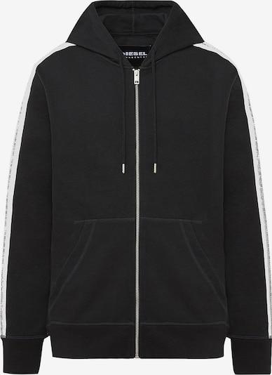 DIESEL Sweatjacke in schwarz / weiß, Produktansicht