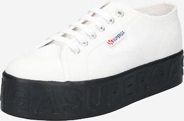 Sneaker low 'Lettering' de la SUPERGA pe alb
