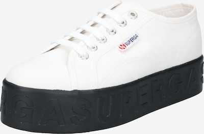 SUPERGA Zemie brīvā laika apavi 'LETTERING', krāsa - balts, Preces skats