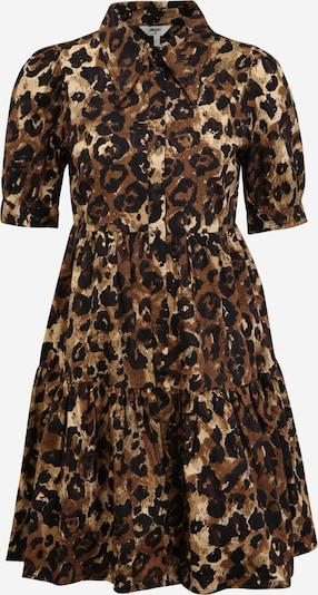 OBJECT Petite Kleid 'ROSITA' in sepia / hellbraun / schwarz, Produktansicht