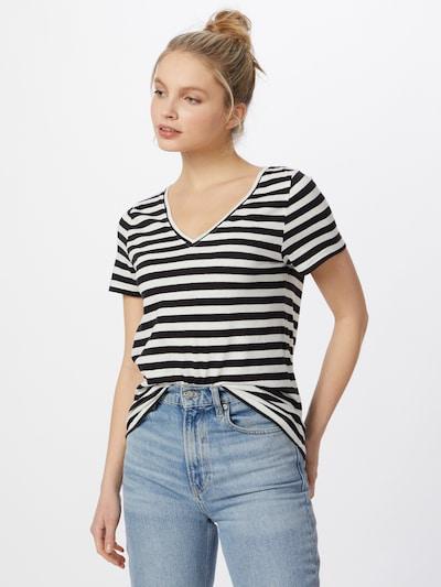 ICHI Тениска 'YULIETTA' в черно / бяло: Изглед отпред