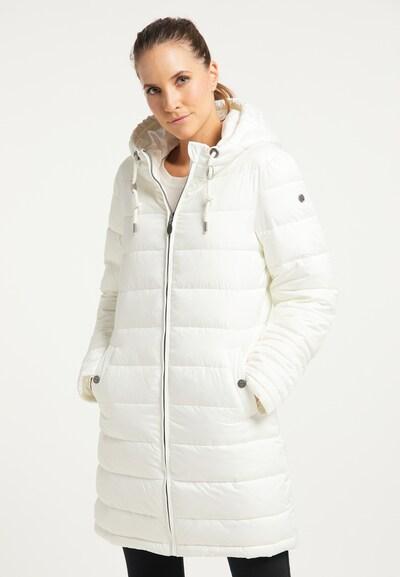 DreiMaster Klassik Wintermantel in weiß, Modelansicht