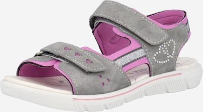RICOSTA Sandale in grau / pink, Produktansicht