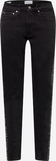 Calvin Klein Jeans Jeans in black denim / weiß, Produktansicht