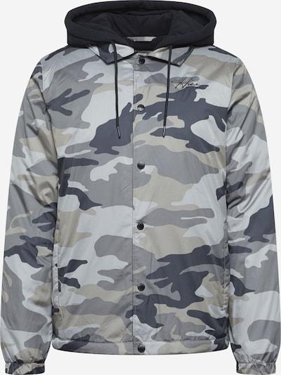 HOLLISTER Prehodna jakna | marine / siva / oliva / črna barva: Frontalni pogled
