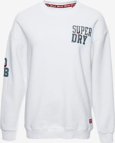 Superdry Sweatshirt 'Superset' in marine / grau / rot / weiß, Produktansicht