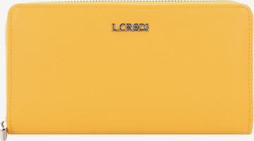 L.CREDI Portemonnaie 'Florentia' in Gelb