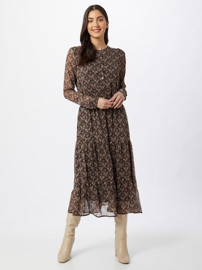Sofie Schnoor Kleid in rostbraun / schwarz, Modelansicht
