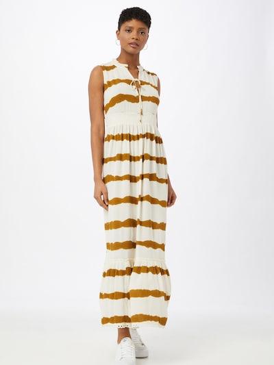 Cream Kleid in gold / weiß, Modelansicht