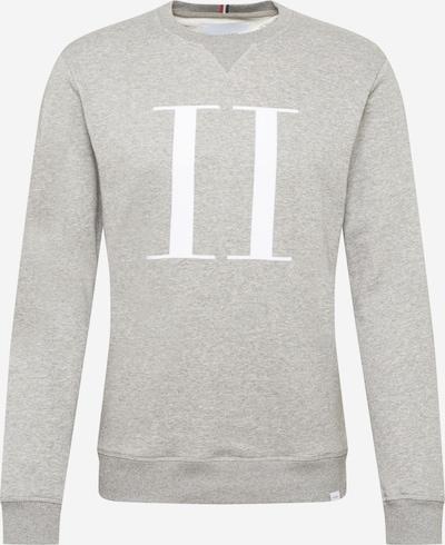 Les Deux Sweat-shirt 'Encore Light' en gris chiné / blanc, Vue avec produit