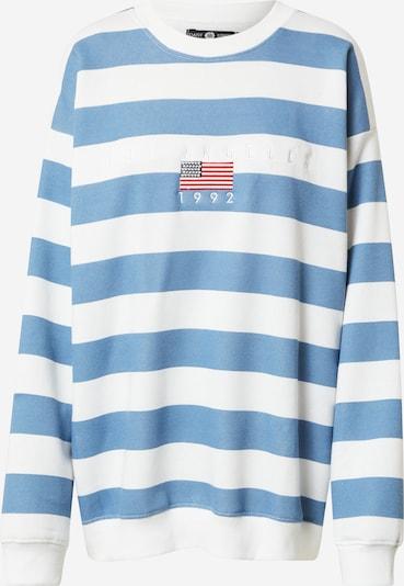 Daisy Street Sweatshirt in Light blue / Red / White, Item view
