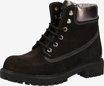 Darkwood Lace-Up Ankle Boots in Black