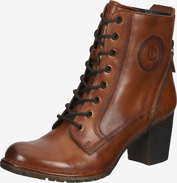 bugatti Lace-Up Ankle Boots in Brown