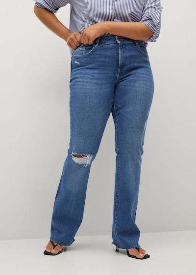 VIOLETA by Mango Jeans 'Martha' in blue denim, Modelansicht