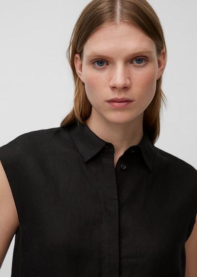 Marc O'Polo Pure Blouse ' aus reinem Leinen ' in de kleur Zwart, Productweergave