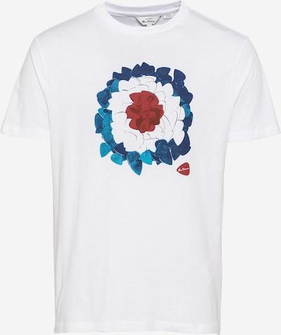 Ben Sherman Majica 'PLECTRUM' u plava / tirkiz / pastelno crvena / bijela, Pregled proizvoda