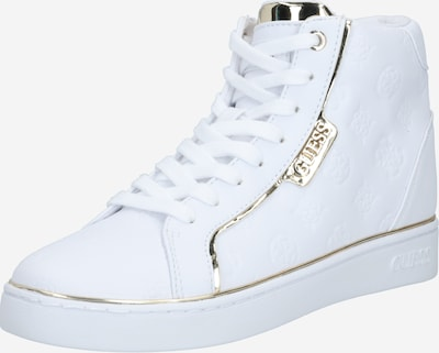 GUESS Sneaker 'Brina' in gold / weiß: Frontalansicht