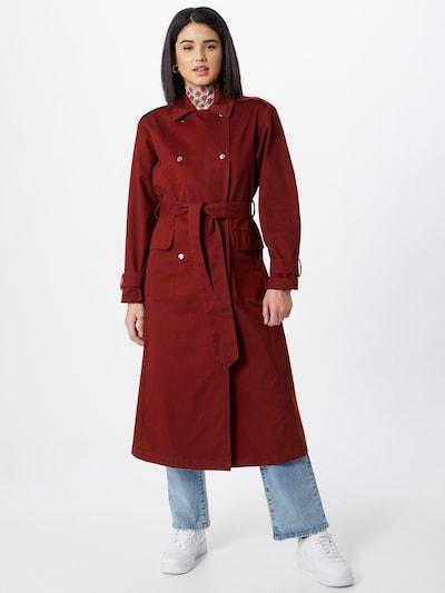 sötétvörös Gina Tricot Átmeneti kabátok 'Sally', Modell nézet