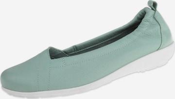 Natural Feet Ballet Flats 'Polina' in Green