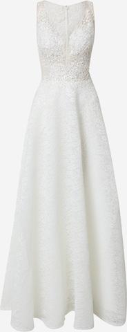 Rochie de seară de la mascara pe alb