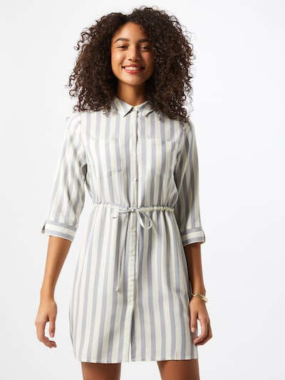 ONLY Kleid in grau / weiß, Modelansicht