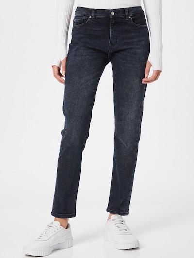 Jeans BOSS Casual pe gri închis, Vizualizare model