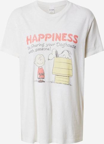 RE/DONE Koszulka 'SHARING WITH SOMEONE' w kolorze biały