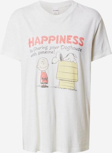 RE/DONE Majica 'SHARING WITH SOMEONE' u svijetložuta / crvena / crna / bijela, Pregled proizvoda