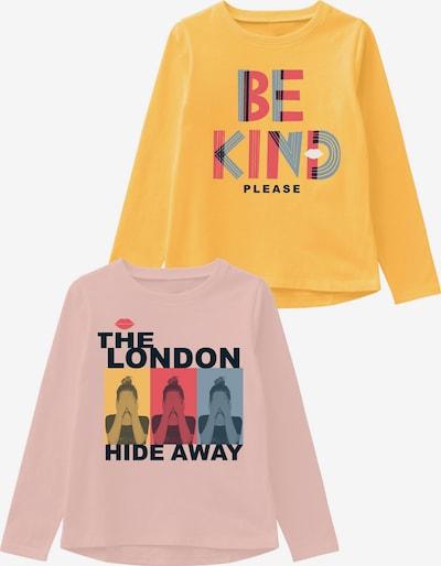 NAME IT T-Krekls 'NKFVEEN 2P LS TOP TTT' dzeltens / jauktu krāsu / rožains, Preces skats