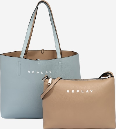 REPLAY Tasche in beige / hellblau, Produktansicht