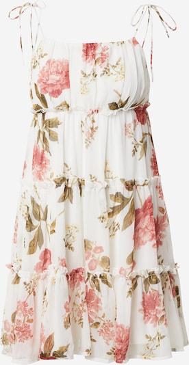 VERO MODA Kleid 'BRIONY' in oliv / rosa / weiß, Produktansicht