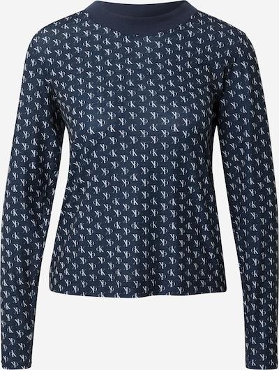 Calvin Klein Underwear Schlafshirt in dunkelblau / weiß, Produktansicht